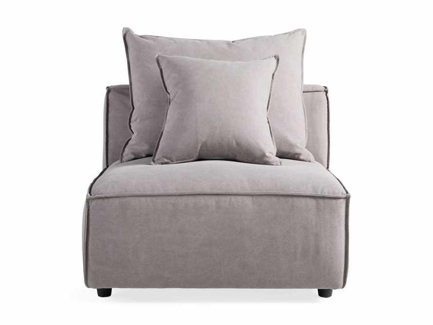 "Coburn Upholstered 38"" Armless Chair in Capricorn Grey, slide 6 of 7"
