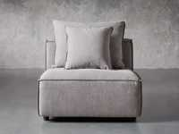 """Coburn Upholstered 38"""" Armless Chair in Capricorn Grey"""