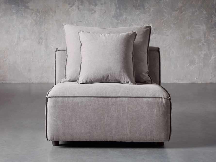 "Coburn Upholstered 38"" Armless Chair in Capricorn Grey, slide 1 of 6"