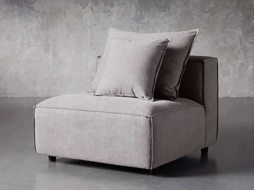 "Coburn Upholstered 38"" Armless Chair in Capricorn Grey, slide 2 of 6"