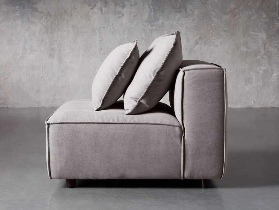 "Coburn Upholstered 38"" Armless Chair in Capricorn Grey, slide 3 of 6"