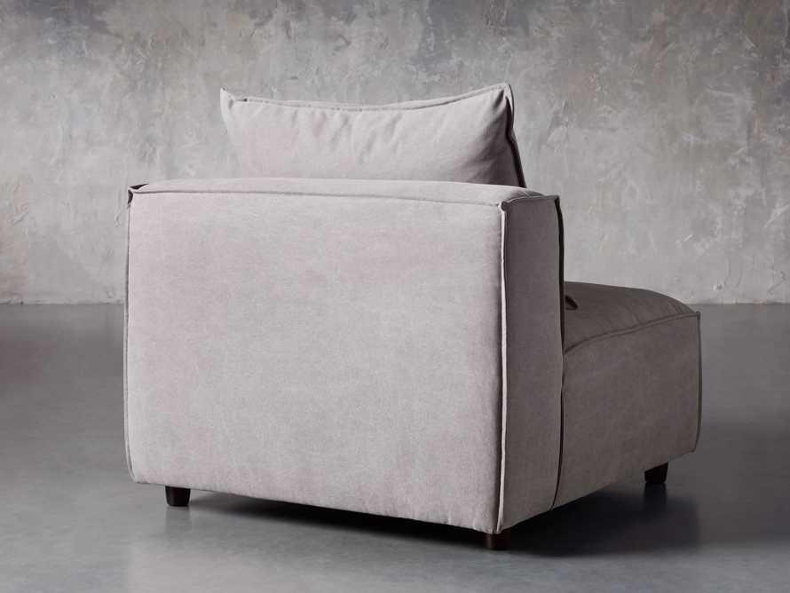 "Coburn Upholstered 38"" Armless Chair in Capricorn Grey, slide 4 of 6"