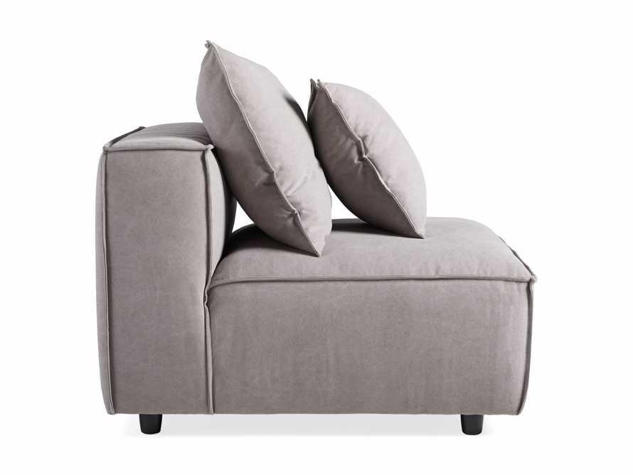 "Coburn Upholstered 38"" Armless Chair in Capricorn Grey, slide 6 of 6"