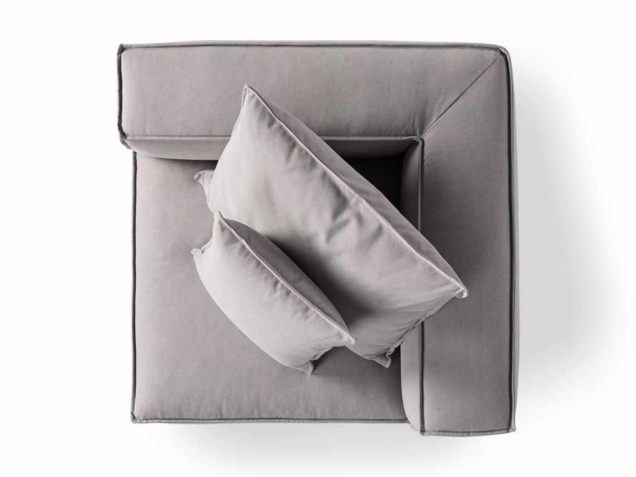 """Coburn Upholstered 43"""" Corner Chair in Capricorn Grey, slide 7 of 7"""