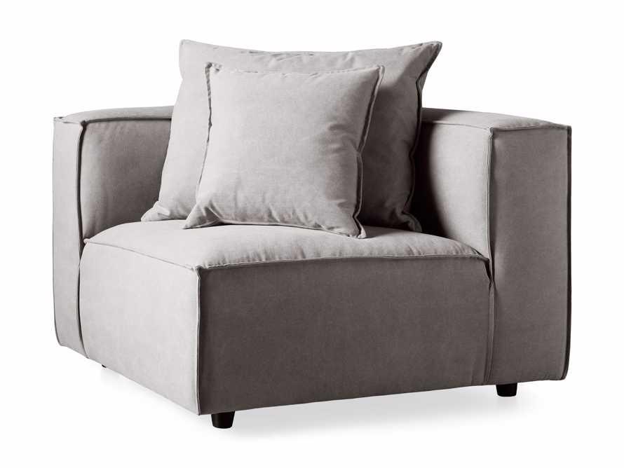 """Coburn Upholstered 43"""" Corner Chair in Capricorn Grey, slide 5 of 7"""
