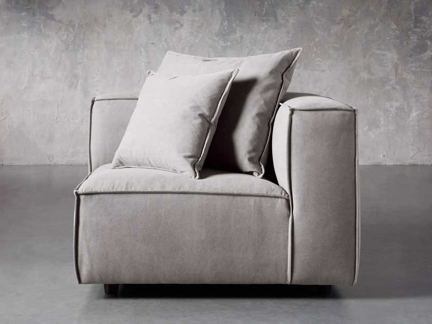 "Coburn Upholstered 43"" Corner Chair in Capricorn Grey, slide 2 of 6"