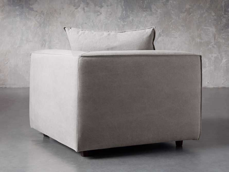 "Coburn Upholstered 43"" Corner Chair in Capricorn Grey, slide 3 of 6"