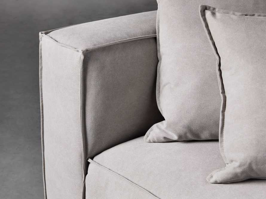 "Coburn Upholstered 43"" Corner Chair in Capricorn Grey, slide 4 of 6"