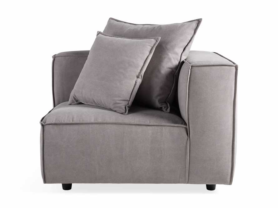 "Coburn Upholstered 43"" Corner Chair in Capricorn Grey, slide 6 of 6"
