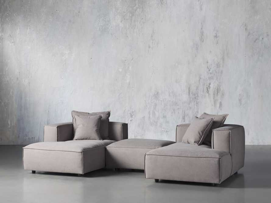 Coburn Upholstered Three Piece Sectional with Chaise, slide 3 of 7
