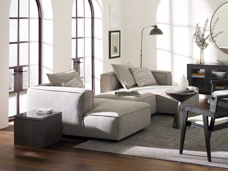 Coburn Upholstered Three Piece Sectional with Chaise, slide 1 of 7