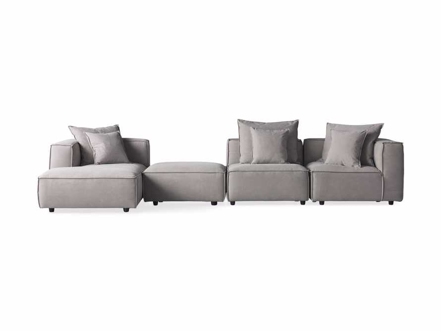 Coburn Upholstered Four Piece Sectional with Chaise, slide 6 of 6