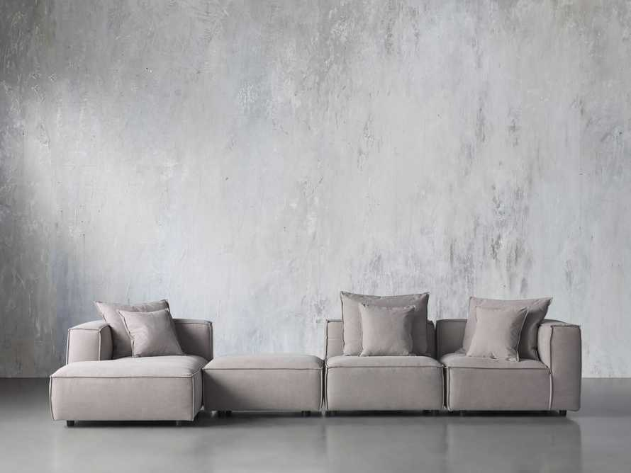 Coburn Upholstered Four Piece Sectional with Chaise, slide 1 of 6
