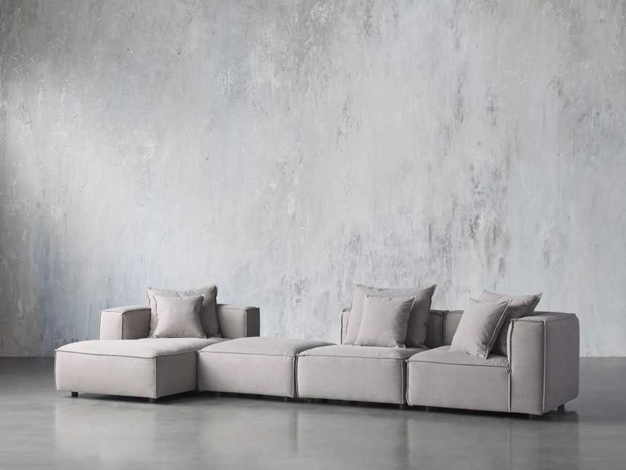Coburn Upholstered Four Piece Sectional with Chaise, slide 2 of 6