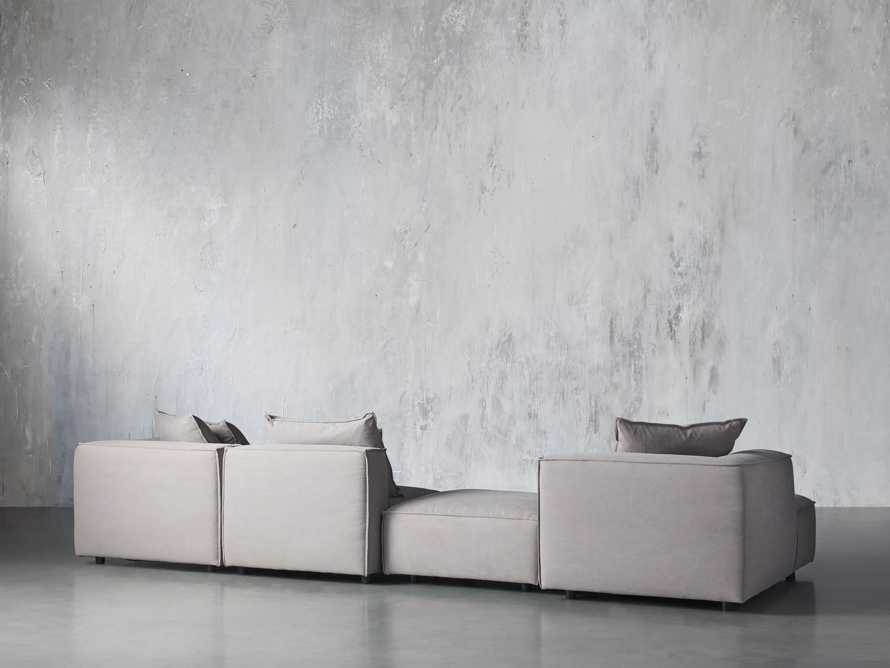 Coburn Upholstered Four Piece Sectional with Chaise, slide 3 of 6