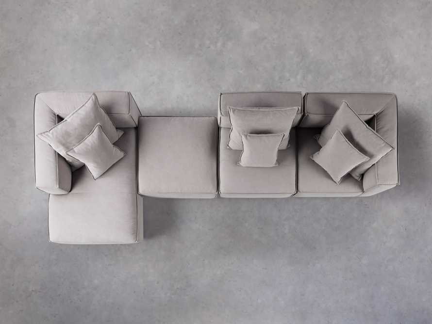 Coburn Upholstered Four Piece Sectional with Chaise, slide 4 of 6