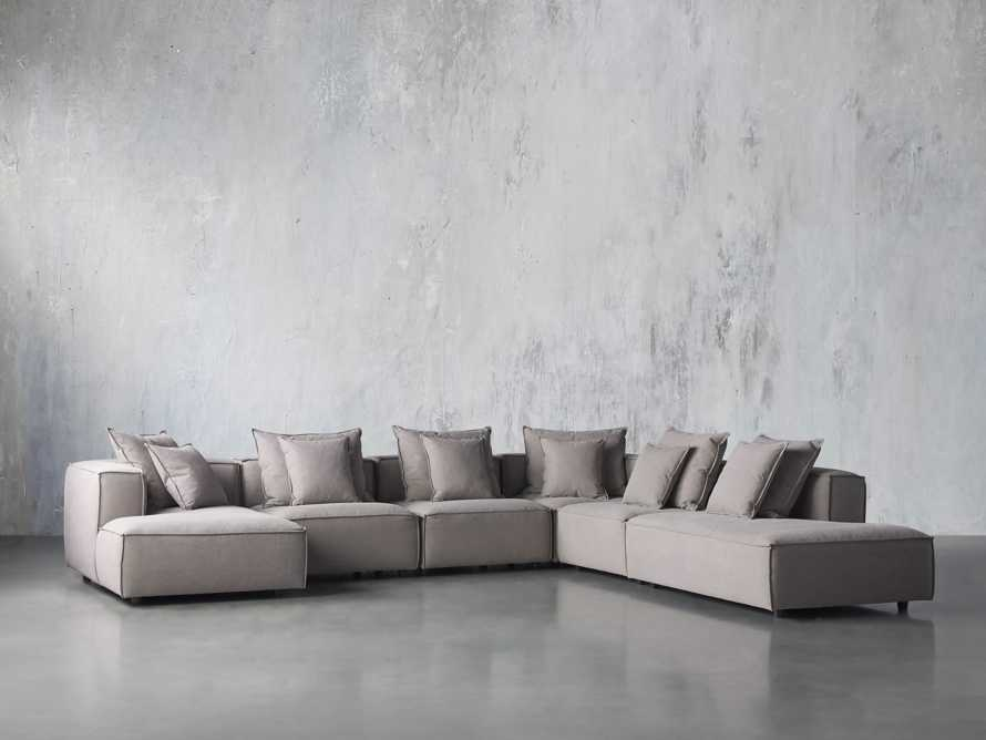 Coburn Upholstered Six Piece Bumper Sectional with Chaise, slide 2 of 6