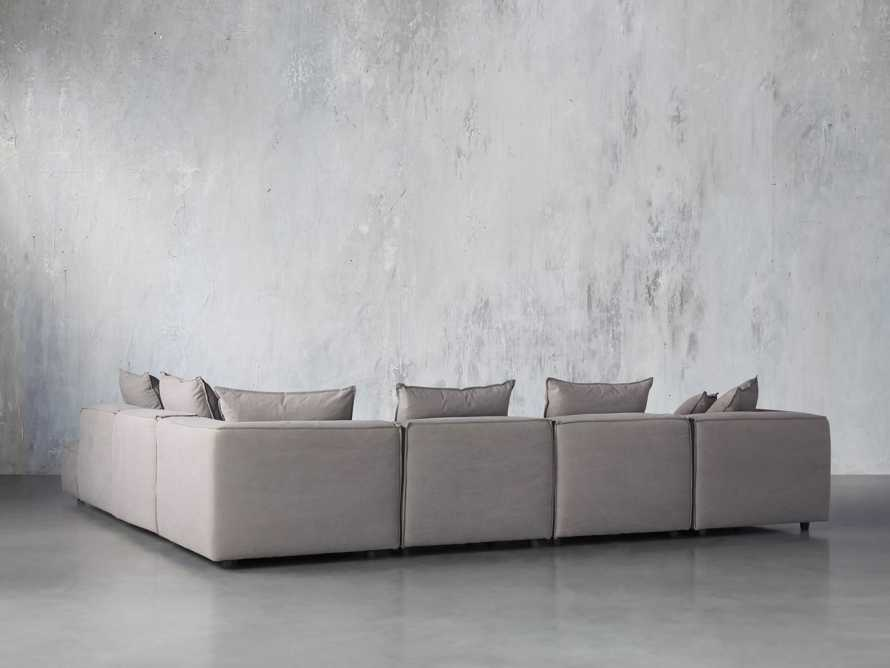 Coburn Upholstered Six Piece Bumper Sectional with Chaise, slide 3 of 6