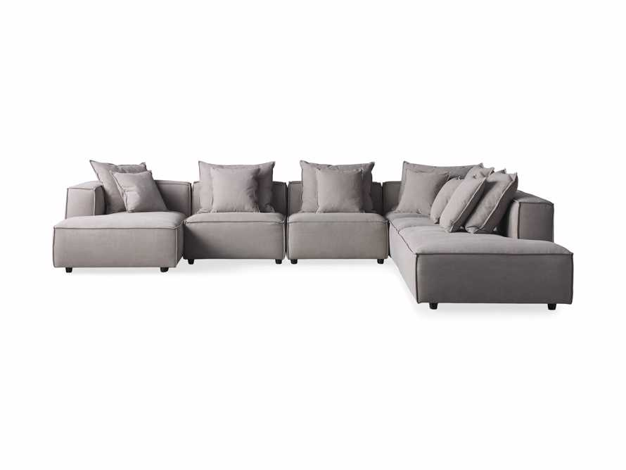 Coburn Upholstered Six Piece Bumper Sectional with Chaise, slide 6 of 6