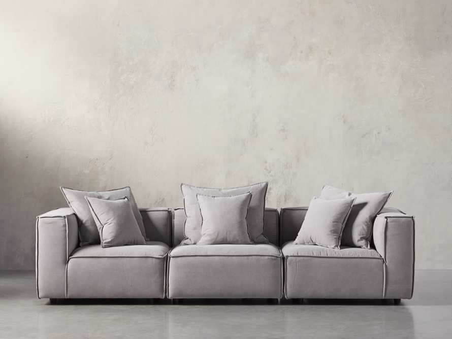 "Coburn Upholstered 124"" Three Piece Sectional"