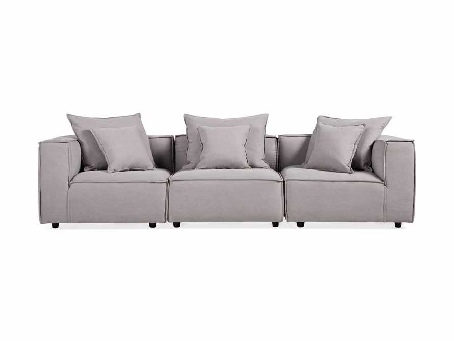 """Coburn Upholstered 124"""" Three Piece Sectional, slide 8 of 9"""