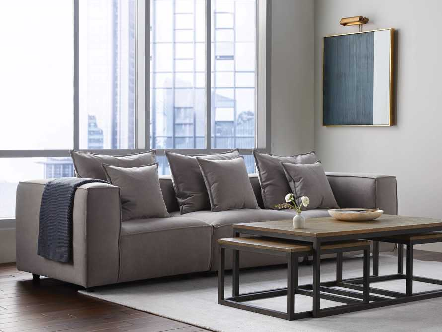 "Coburn Upholstered 124"" Three Piece Sectional, slide 1 of 8"