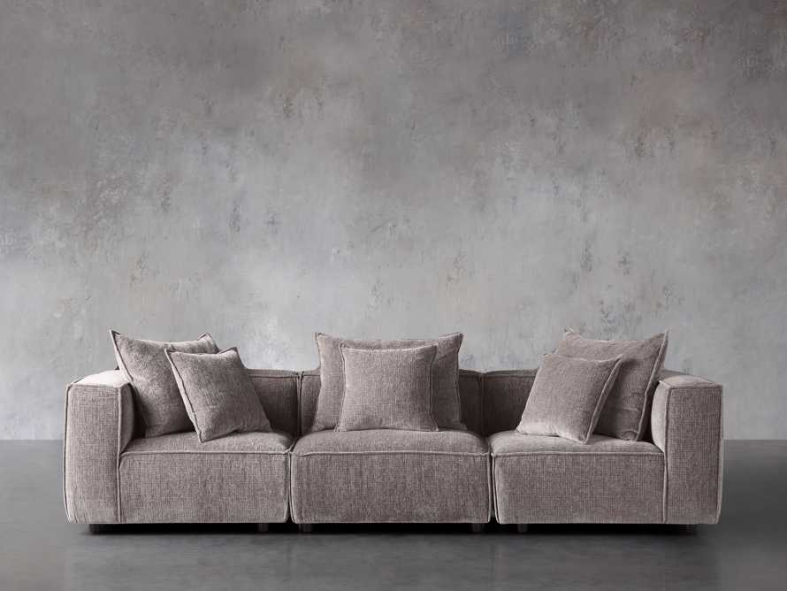 """Coburn Upholstered 124"""" Three Piece Sectional, slide 1 of 1"""