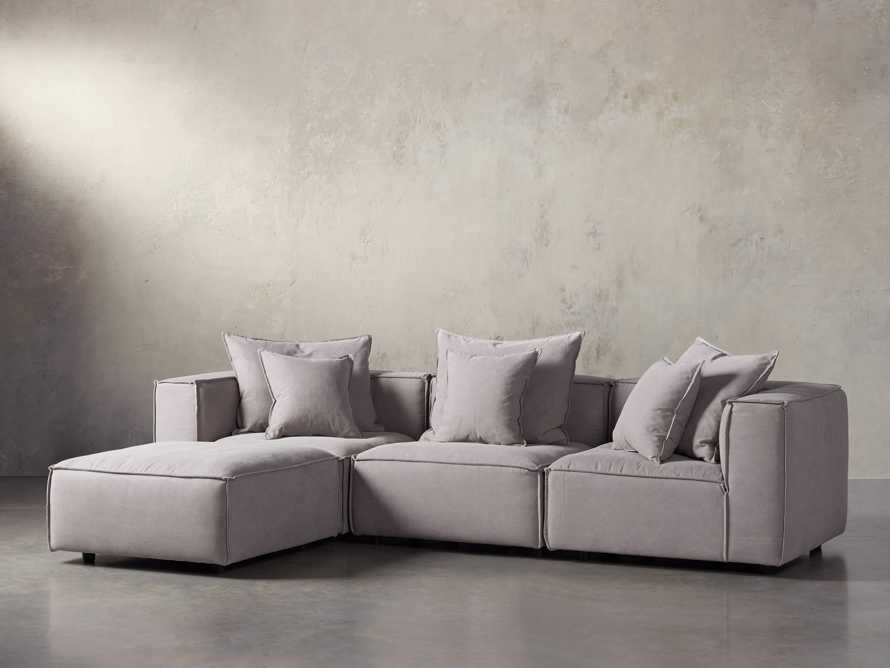 "Coburn Upholstered 124"" Four Piece Reverse Sectional"