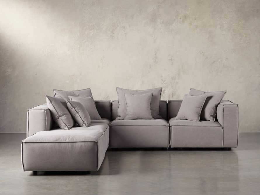 "Coburn Upholstered 124"" Five Piece Sectional, slide 1 of 7"