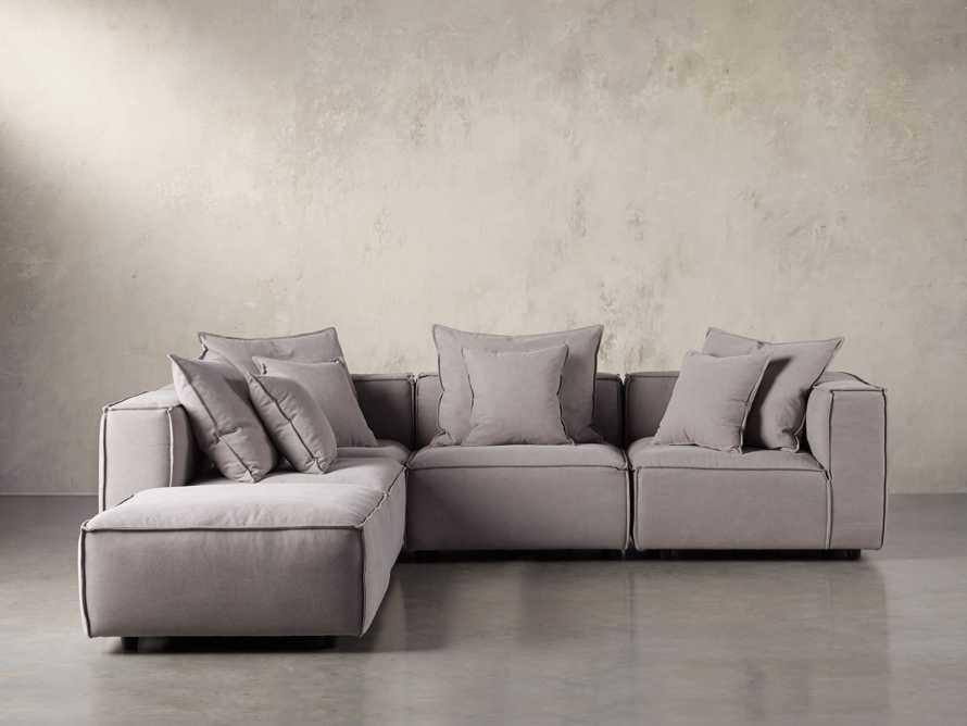 "Coburn Upholstered 124"" Five Piece Sectional, slide 2 of 7"