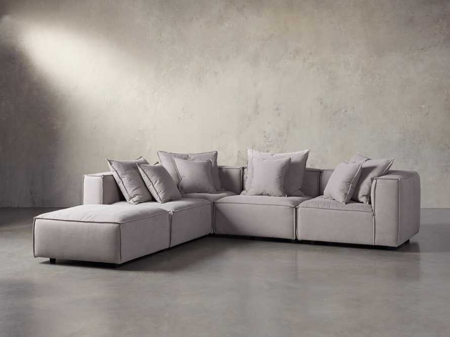 "Coburn Upholstered 124"" Five Piece Sectional, slide 2 of 7"