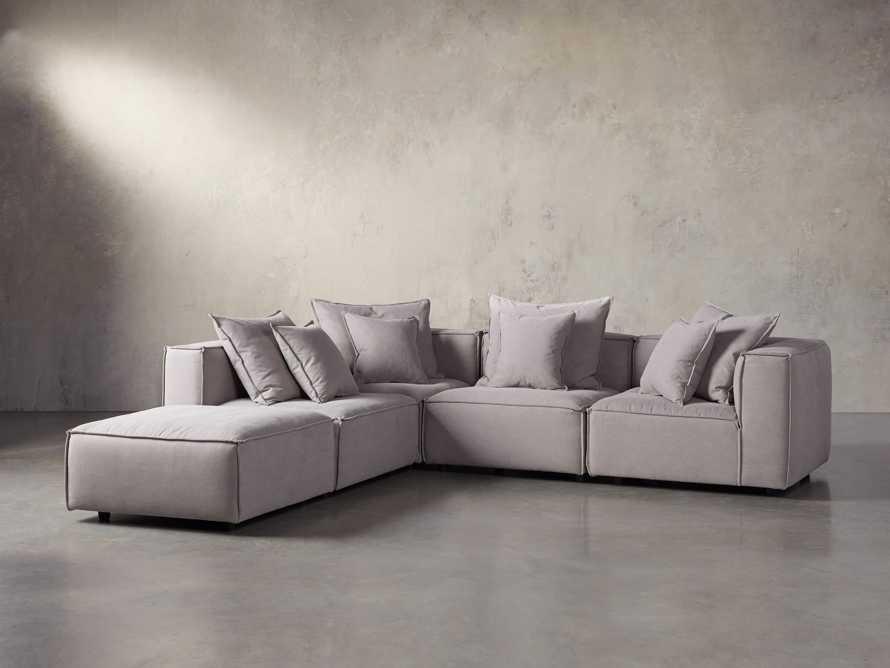 "Coburn Upholstered 124"" Five Piece Sectional, slide 1 of 7"