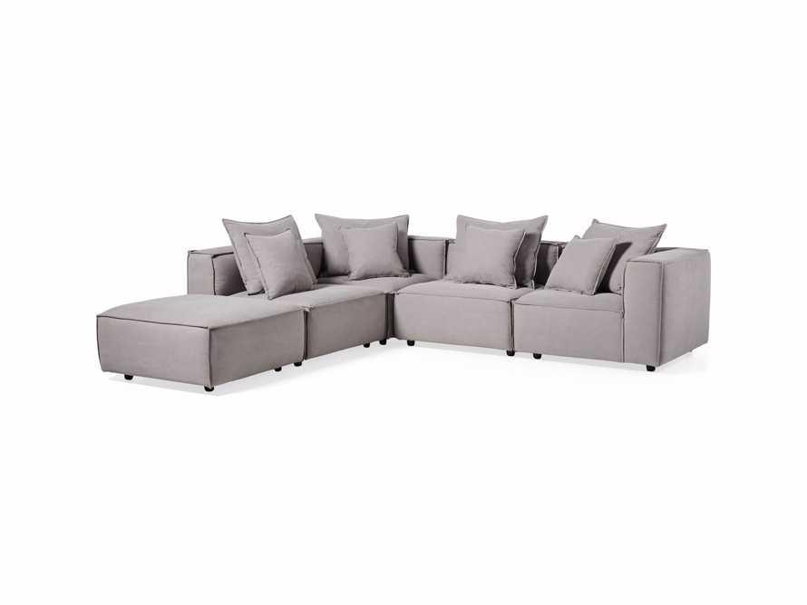 "Coburn Upholstered 124"" Five Piece Sectional, slide 4 of 8"