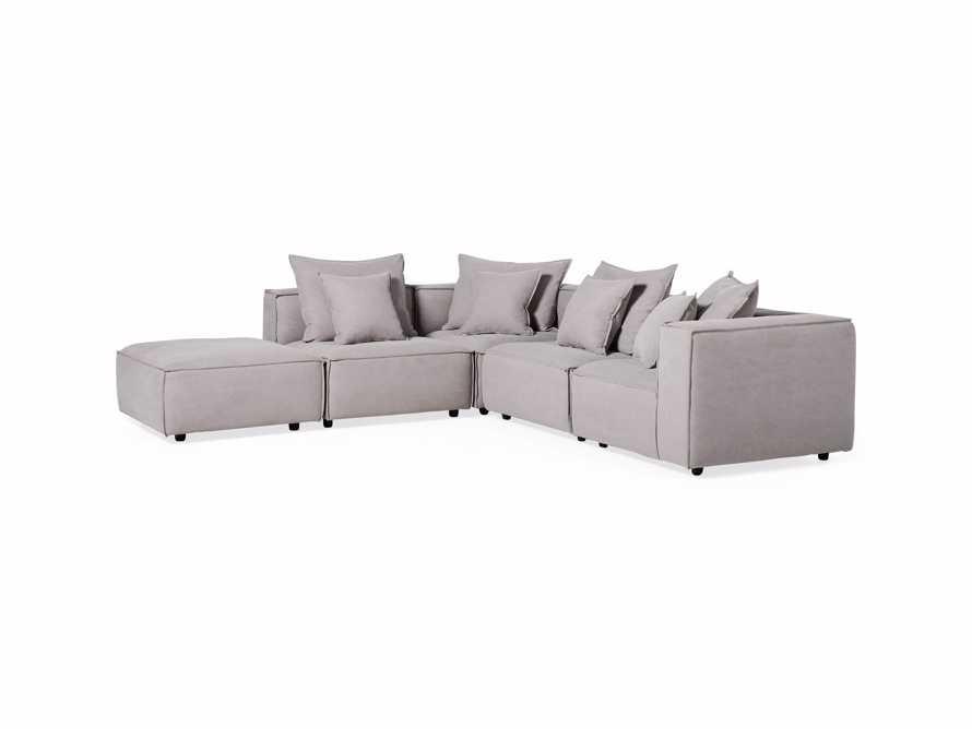 "Coburn Upholstered 124"" Five Piece Sectional, slide 5 of 8"