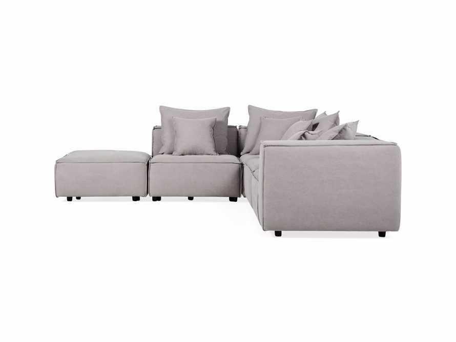 "Coburn Upholstered 124"" Five Piece Sectional, slide 6 of 8"