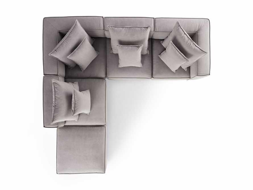 "Coburn Upholstered 124"" Five Piece Sectional, slide 8 of 8"