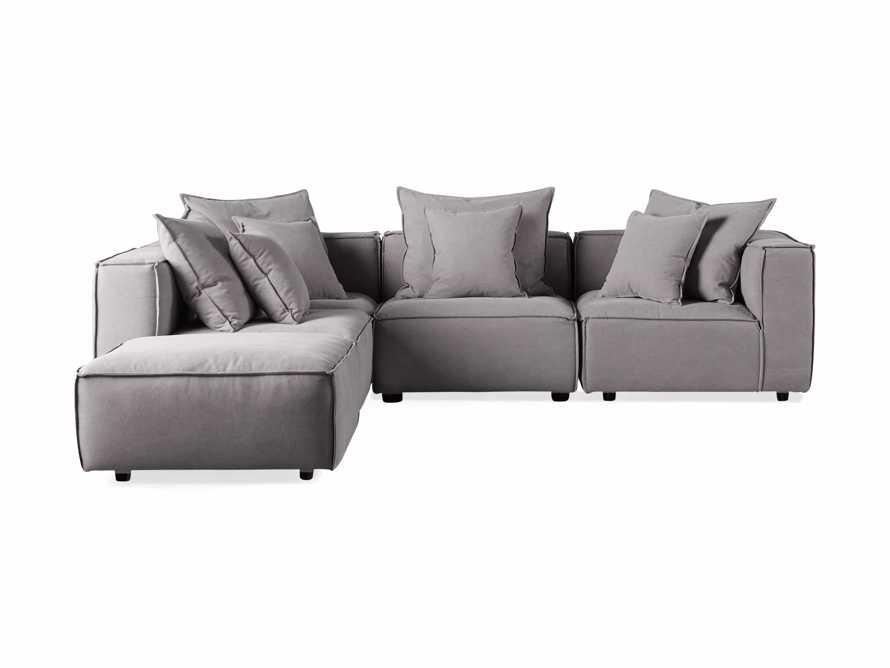 "Coburn Upholstered 124"" Five Piece Sectional, slide 4 of 9"