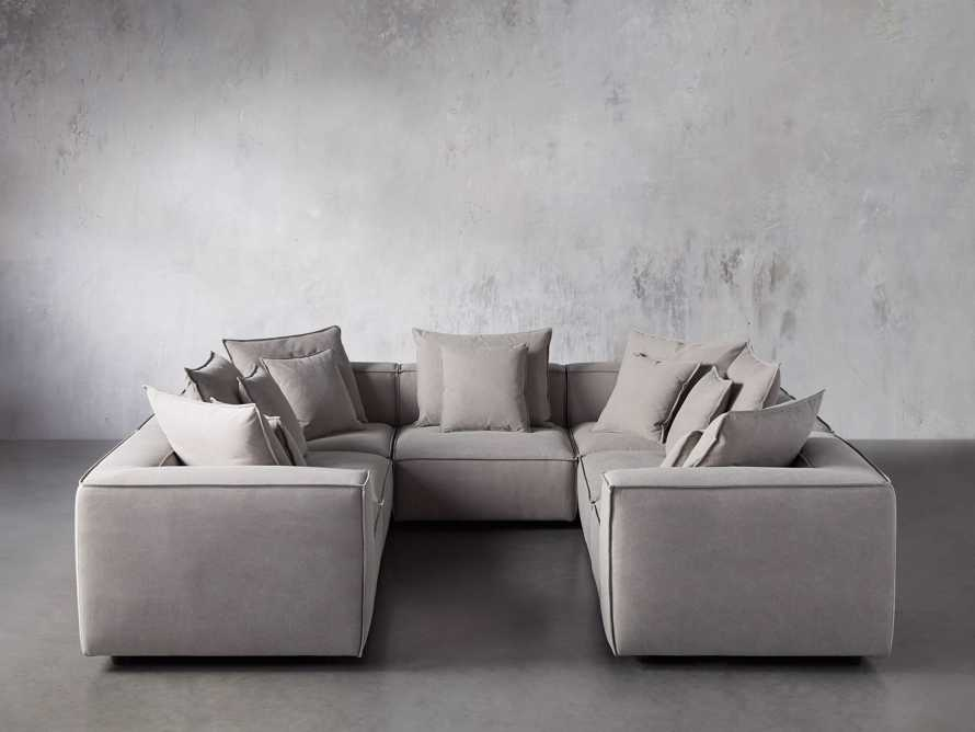 Coburn Upholstered Seven Piece Sectional in Capricorn Grey, slide 2 of 7