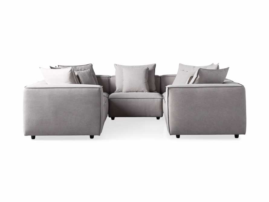Coburn Upholstered Seven Piece Sectional in Capricorn Grey, slide 7 of 7