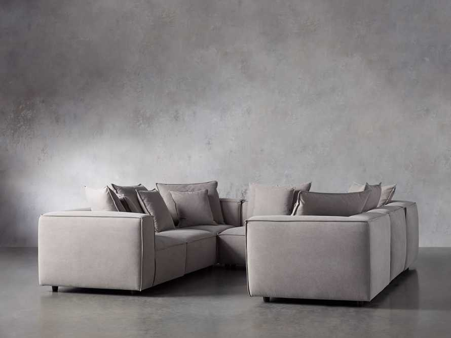 Coburn Upholstered Seven Piece Sectional in Capricorn Grey, slide 3 of 7