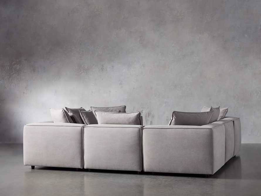 Coburn Upholstered Seven Piece Sectional in Capricorn Grey, slide 4 of 7