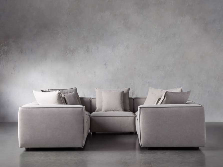 Coburn Upholstered Seven Piece Sectional in Capricorn Grey, slide 1 of 7