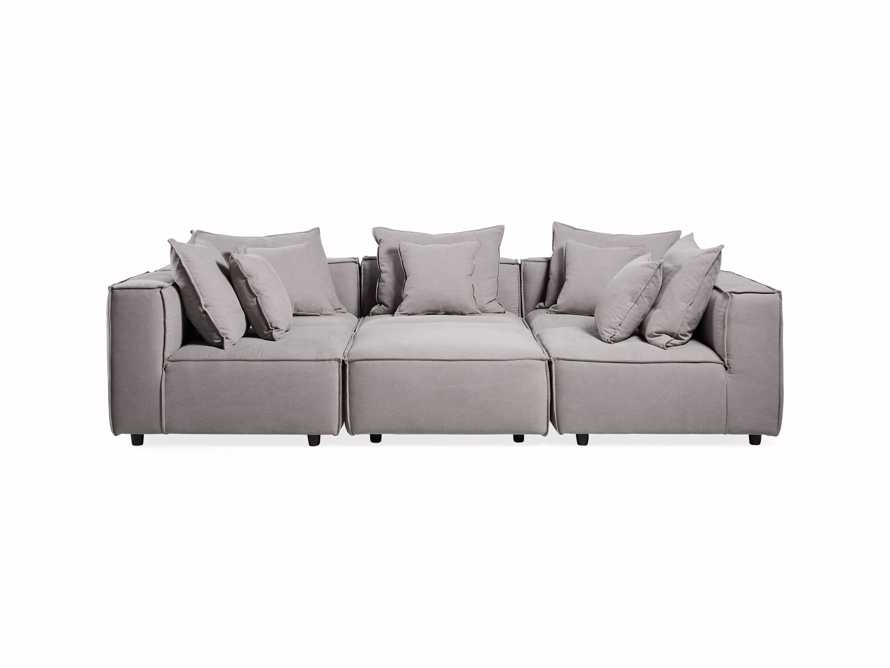 "Coburn 124"" Six Piece Pit Sectional"