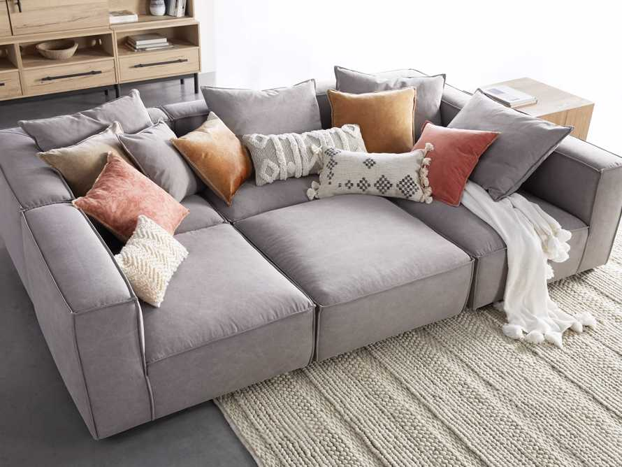 """Coburn 124"""" Six Piece Pit Sectional, slide 1 of 8"""