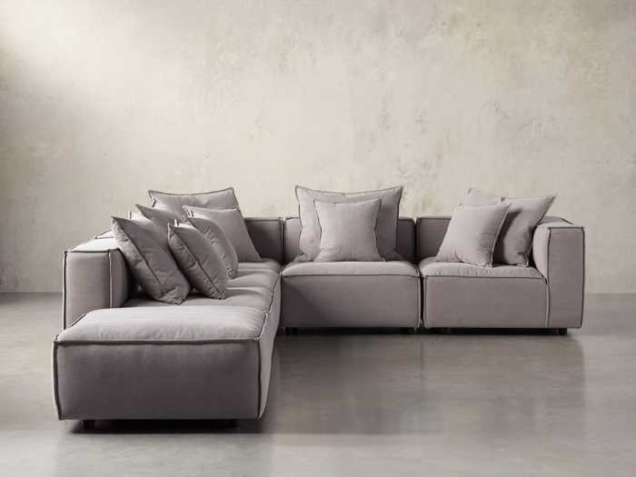 Marvelous Sectional Sofas Couches Leather Sectional Sofas Arhaus Alphanode Cool Chair Designs And Ideas Alphanodeonline