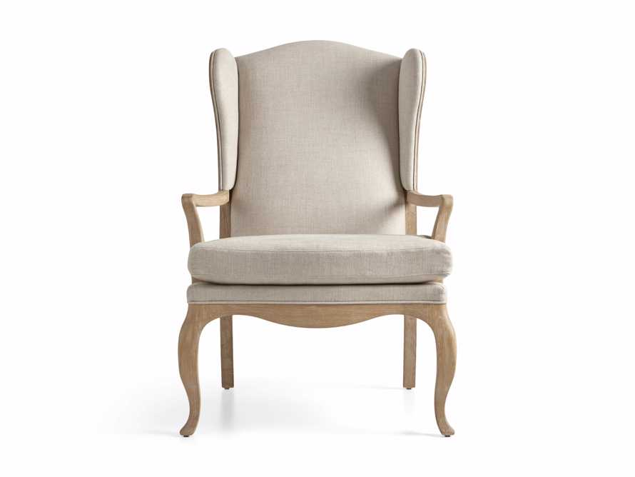 "Lorraine Upholstered 30"" Chair in Oatmeal, slide 8 of 9"