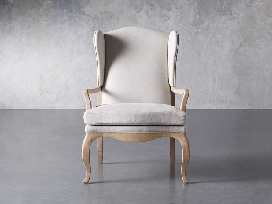 "Lorraine Upholstered 30"" Chair in Oatmeal, slide 1 of 9"
