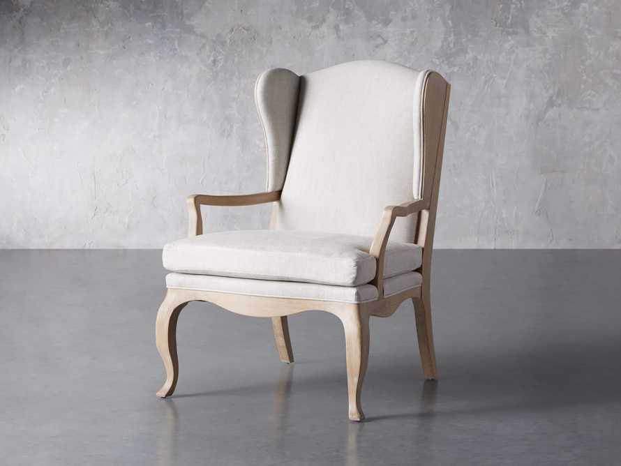 "Lorraine Upholstered 30"" Chair in Oatmeal, slide 2 of 9"