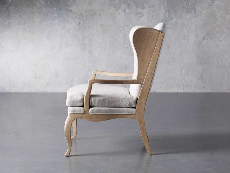 "Lorraine Upholstered 30"" Chair in Oatmeal, slide 3 of 9"