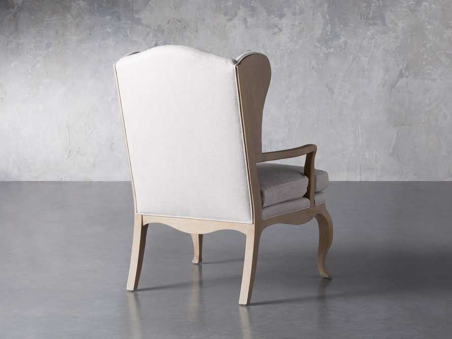 "Lorraine Upholstered 30"" Chair in Oatmeal, slide 4 of 9"